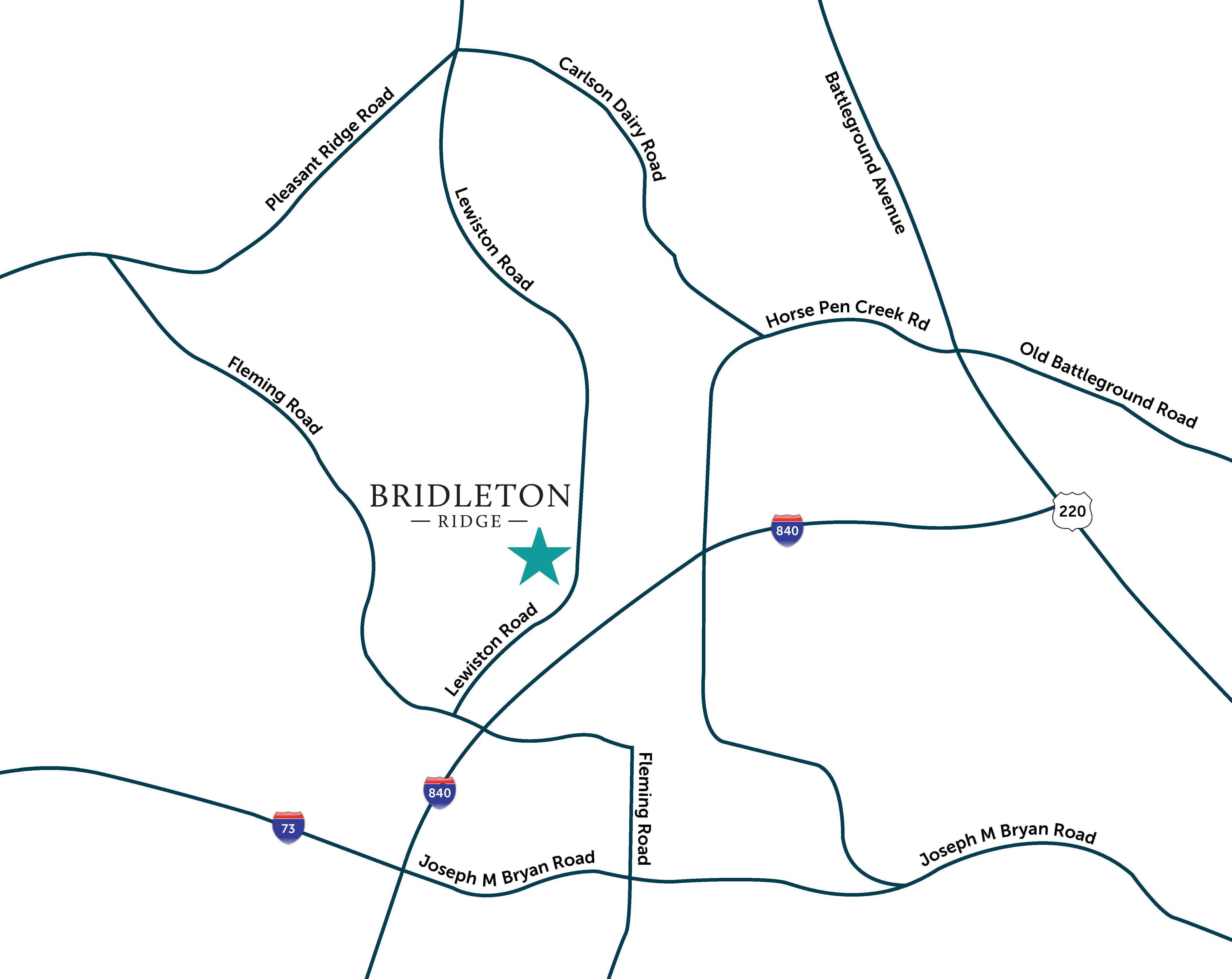 Bridleton Ridge Location Map Find New Home